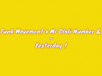 West Funk Movement x Mr Dlali Number & Vibez – Yesterday
